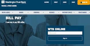 Washington Trust Bank Customer Service Washington Trust Bank Bill Pay Online Login Customer Service