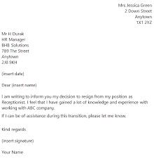 company resign letter  resignation letter sample  resignation    resignation letter examples