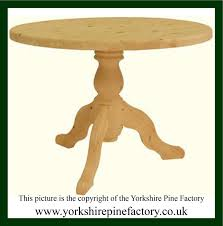 Round Pine Kitchen Table The Yorkshire Pine Factory Handmade Solid Pine Kitchen Tables