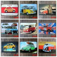 20 30cm vintage metal tin signs wall decor autos cars iron paintings car metal signs tin plate pub bar garage home decoration aaa1040 wall stickers for baby