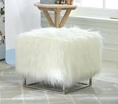 mongolian fur chair lamb ottoman fur chair faux