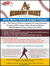How To Make A League Schedule Metro Scout League Tryouts