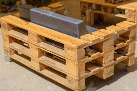 furniture made from wooden pallets. Furniture Made Of Solid Wood Pallets - Upcycling Stock Photo 58867522 From Wooden D