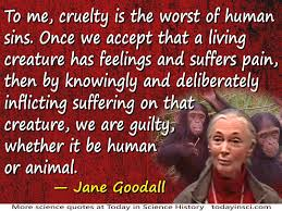 Jane Goodall Quote Cruelty Is The Worst Of Human Sins Large Image Interesting Jane Goodall Quotes