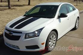 2008-2014 Chevy Cruze Cruzin Rally Racing Stripes Hood and Trunk ...