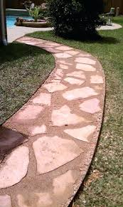 how to lay flagstone walkway how to install flagstone patio in concrete laying flagstone walkway in