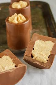 chocolate shot glasses with peanut er mousse 6