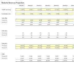 Simple Income Statement Revenue Projection Template Excel Simple Income Statement