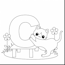 coloring page letters letter k with monkey on letter n is for nest coloring page free
