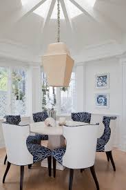 Patterned Dining Chairs Beauteous Dining Chair Plan Combining Patterned Fabric And Solid Vinyl
