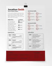 Amazing And Creative Marvelous Designer Resume Templates Creative