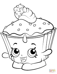 Cupcake Chic Shopkin Coloring Page On Pancake Coloring Pages