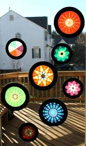 stained glass hangers fun crafts made from tissue paper window d a creations holder fl