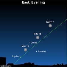 May 18 Blue Moon Near Antares Jupiter Ceres Tonight