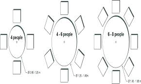 round table sizes and seating dining size chart for 8 6 what seats 9 8 seat