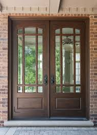 wooden front door with glass. Modren With Glamorous Chocolate Wooden Front Entry Door Inspiration With Glass Accents  And Black Handles Together Brown Intended F