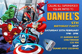 superheroes birthday party invitations avengers superhero birthday party invitations envelopes click