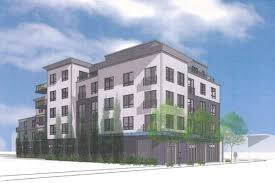 ... to replace a one-story office building, a single-family house, and a  vacant lot along Market Street in Brighton with a five-story apartment  project.