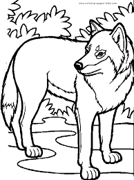 Small Picture Wolf Coloring Pages For Kids Wolves Coloring Pages 8882