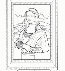 Fresh Inspiration Mona Lisa Coloring Pages Page With Remarkable 94