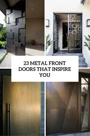 metal front door23 Metal Front Doors That Are Really Inspiring  Shelterness