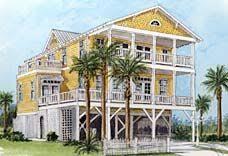 raised house plans. Elevated, Piling And Stilt House Plans - Coastal Home Raised W