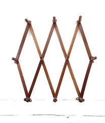 expanding peg rack accordion coat rack vintage wooden accordion peg rack wall hanging jewelry organizer hat