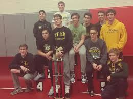 st edward wrestling 2015 varsity green wrestling wins marion tourney rini daugherty v santillo crowned champs