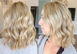 All over blonde hair color