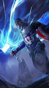 Captain-America-with-Thor-Hammer-iPhone ...