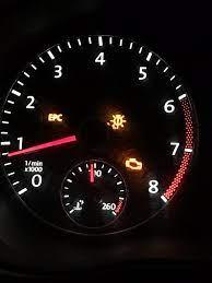 check engine and epc light on vw