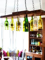 Wine Bottle Light Fixture Brighten Up With These Diy Home Lighting Ideas Hgtvs Decorating