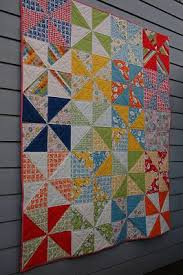 Best 25+ Pinwheel quilt pattern ideas on Pinterest | Pinwheel ... & Pinwheel quilt for photos: quick way to make pinwheels from layer cake.  Love the large size with multicolored background Adamdwight.com