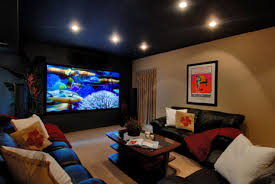basement home theater. Interesting Home Finished Basement Media Room With Flat Screen TV To Basement Home Theater S