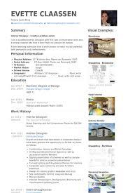 Interior Designer Resume samples