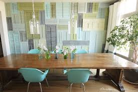 Unique Diy Wall Art Ideas For Dining Room From Louvered Windows