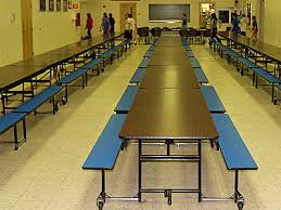 school lunch table. One Of The Lunchtime Staff Said I Should Return Every Day Because Usually Boisterous Boys At Our Table Were Extremely Well-behaved Today. School Lunch B