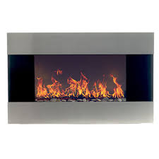 com stainless steel electric fireplace with wall mount and remote 36 inch by northwest home improvement
