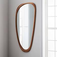 mid century asymmetrical floor mirror