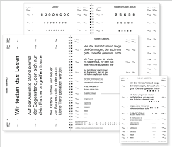 German Black Charts Radner Reading Charts As Exemplified By The German Version