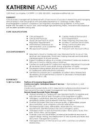 Sample Resume Clinical Research Project Manager Best Brilliant Ideas