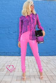 barbie pink leather pant