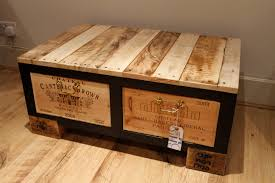 scenic chest barn unpainted reclaimed wood coffee table storage trunk with double drawer on wooden floors as interior traditional living space designs