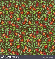 Fancy Patterns Adorable Fancy Flower Pattern Brown Background