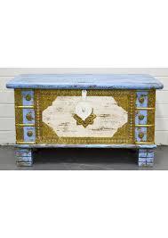 antique vintage blanket box