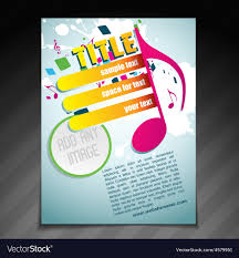 Music Brochure Stylish Music Brochure Design Royalty Free Vector Image 11