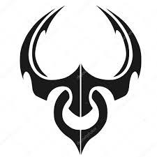 минималистский бык тату иллюстрация стоковое фото Klowreed