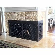 trabuco l shape fireplace door ams