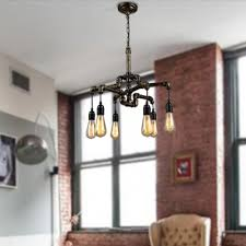 industrial kitchen lighting pendants. industrial 6 light kitchen pendant in pipe shape lighting pendants o