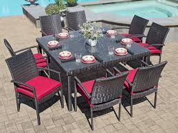 resin wicker outdoor 5 piece dining set. havana 9 pc. aluminum \u0026 woven resin wicker dining set with 60 square glass top outdoor 5 piece d